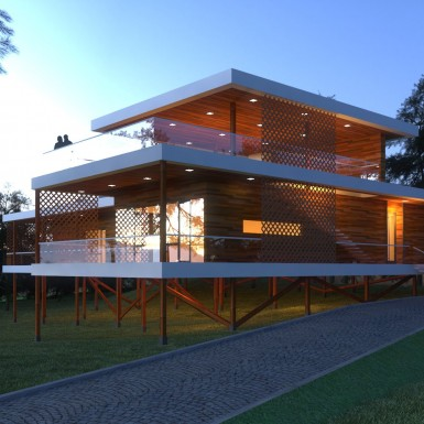 FLOATING HOUSE vray 09